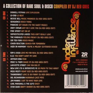 DJ RED GREG/VARIOUS - Under The Influence Vol 1: A Collection Of Rare Soul & Disco