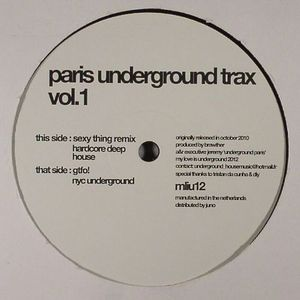 PARIS UNDERGROUND TRAX - Vol 1 (Remastered)