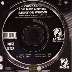 BARONI, Loris feat MARIE SIMMONS - Right Or Wrong