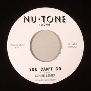 LESTER, Lonnie/CHUCK DANZY - You Can't Go