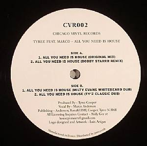 COOPER, Tyree feat MARCO ANDERSON - All You Need Is House
