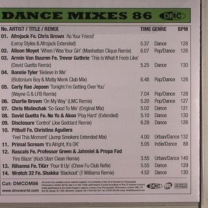 VARIOUS - Dance Mixes 86 (Strictly DJ Only)