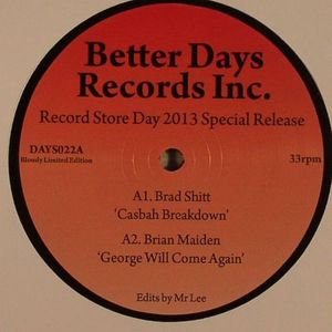 BRAD SHITT/BRIAN MAIDEN/DJ TRAVEL INSURANCE/THE BLACK PASSAGES - Record Store Day 2013 Special Release
