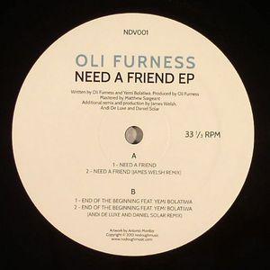 FURNESS, Oli - Need A Friend EP