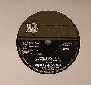 QUALLS, Sidney Joe - I Don't Do This