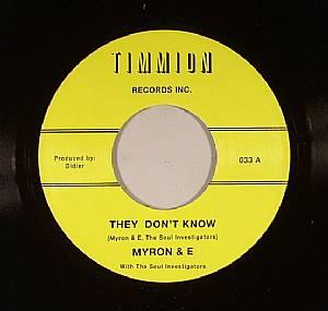 MYRON & E/THE SOUL INVESTIGATORS - They Don't Know