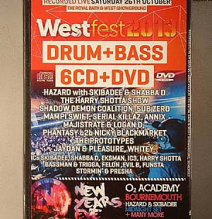 HAZARD/MAJISTRATE/LOGAN D/HARRY SHOTTA SHOW/JAYDAN/PLEASURE/MAMPI SWIFT/SERIAL KILLAZ/SUB ZERO/ANNIX/SHADOW DEMON COALITION/NICKY BLACKMARKET/PHANTASY/VARIOUS - Westfest 2013 Drum & Bass: Recorded Live On Saturday 26th October At The Royal Bath & West Showground