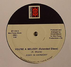 AGED IN HARMONY - You're A Melody (extended disco)(reissue)