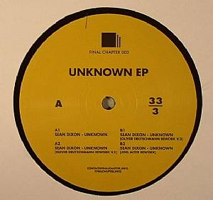 DIXON, Sean - Unknown EP