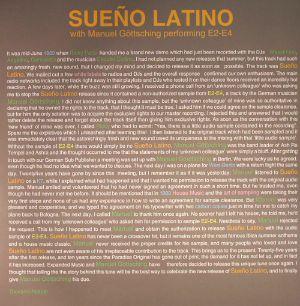 SUENO LATINO with MANUEL GOTTSCHING - Sueno Latino With Manuel Gottsching Performing E2 E4