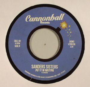 SANDERS SISTERS - Put It In Writing