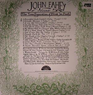 John Fahey The Transfiguration Of Blind Joe Death Vinyl At