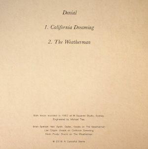 DENIAL - California Dreaming/The Weatherman