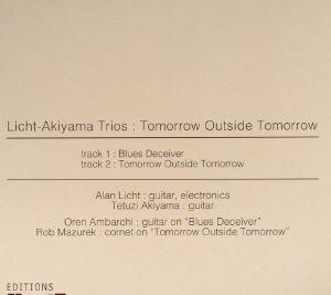 LICHT AKIYAMA TRIOS - Tomorrow Outside Tomorrow