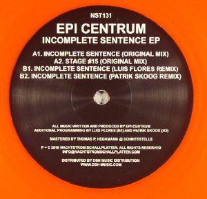 EPI CENTRUM - Incomplete Sentence EP