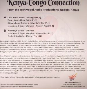 VARIOUS - Kenya Congo Connection: From The Archives Of Audio Productions Nairobi Kenya