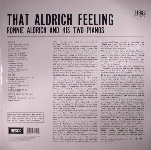 ALDRICH, Ronnie & HIS TWO PIANOS - That Aldrich Feeling