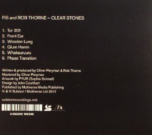 FIS/ROB THORNE - Clear Stones