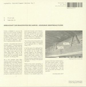 GESELLSCHAFT ZUR EMANZIPATION DES SAMPLES - Uguisubari