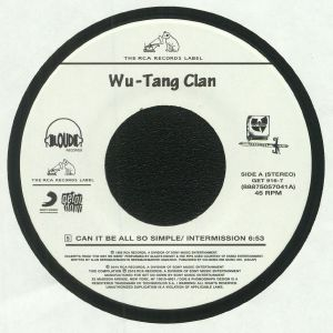 WU TANG CLAN - Can It Be All So Simple/Intermission