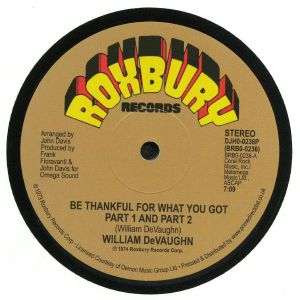 DeVAUGHN, William - Be Thankful For What You Got