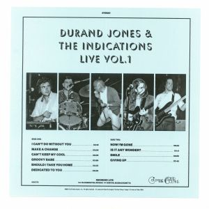 JONES, Durand & THE INDICATIONS - Durand Jones & The Indications Live Vol 1