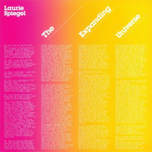 SPIEGEL, Laurie - The Expanding Universe (reissue)