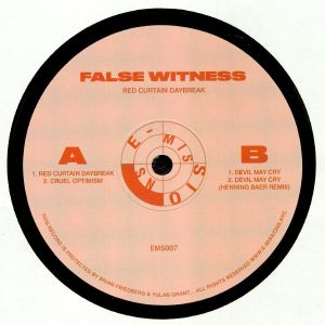 FALSE WITNESS - Red Curtain Daybreak