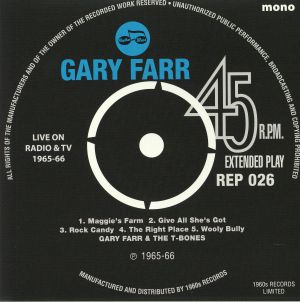 FARR, Gary/THE T BONES - Live On Radio & TV 1965-66 (mono)
