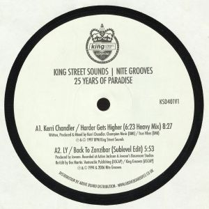 CHANDLER, Kerri/LY aka JOVONN/TUCCILLO/KIKO NAVARRO/ANANDA PROJECT/GURI GURI BOYS/RAIN/A LIL LOUIS PAINTING/DENNIS FERRER - King Street Sounds Nite Grooves: 25 Years Of Paradise