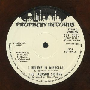 JACKSON SISTERS, The - I Believe In Miracles (reissue)