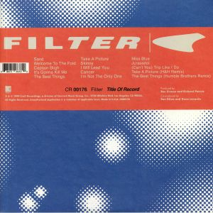 FILTER - Title Of Record (20th Anniversary Deluxe Edition) (reissue)