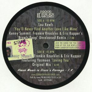 RAWLS, Lou/KENNY SUMMIT/FRANKIE KNUCKLES/ERIC KUPPER - You'll Never Find Another Love Like Mine