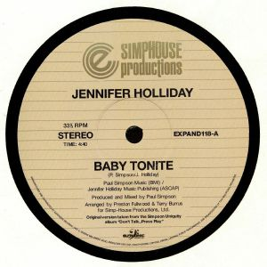 HOLLIDAY, Jennifer - Baby Tonite