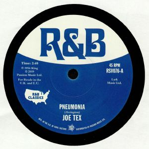 TEX, Joe/LITTLE WILLIE JOHN - Pneumonia (reissue)