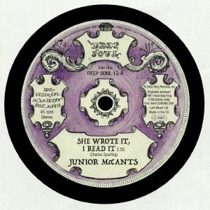 McCANTS, Junior/JOHNNY SOUL - She Wrote It I Read It