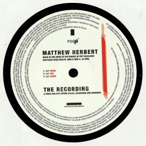 HERBERT, Matthew - The Recording
