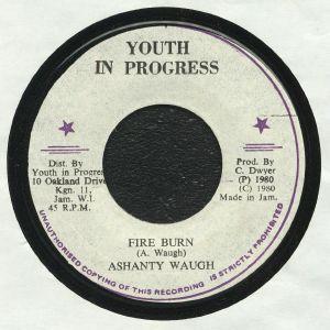 WAUGH, Ashanty/YOUTH IN PROGRESS - Fire Burn (warehouse find, slight sleeve wear)