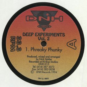 HOLDER, Nick - Deep Experiments Vol 2 (reissue)