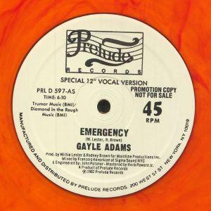ADAMS, Gayle - Emergency (reissue)