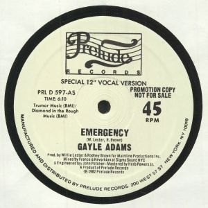 ADAMS, Gayle - Emergency