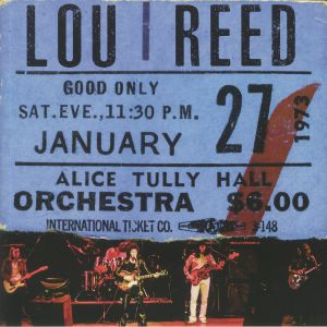REED, Lou - Live At Alice Tully Hall January 27 1973 : 2nd Show (Record Store Day Black Friday 2020)