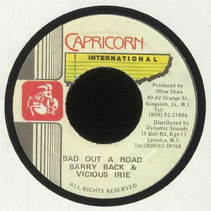 BACK, Barry/VICIOUS IRIE - Bad Out A Road (warehouse find)