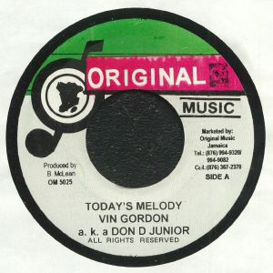 GORDON, Vin aka DON D JUNIOR - Today's Melody (reissue)