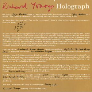 YOUNGS, Richard - Holograph