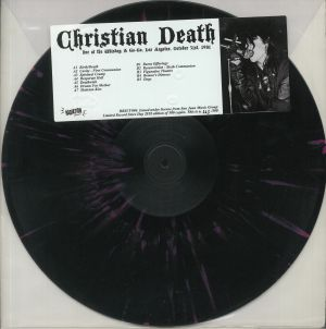 CHRISTIAN DEATH - Live At The Whiskey A Go Go Los Angeles October 31st 1981 (remastered)