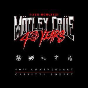 MOTLEY CRUE - 40 Years: 40th Anniversary Cassette Boxset (Record Store Day RSD 2021)