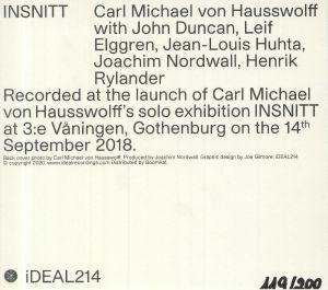 VON HAUSSWOLFF, Carl Michael - INSNITT