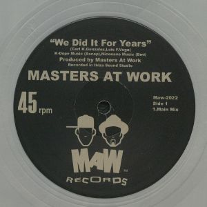 MASTERS AT WORK - We Did It For Years