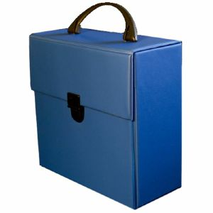 """Covers 33 Retro Style 7"""" 45 Vinyl Record Carrying Case 25 (blue)"""